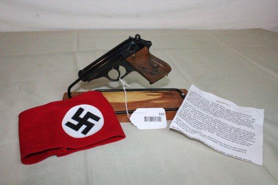 Walther Model PPK 7.65/.32 Pistol w/Nazi Swastika Arm Band.