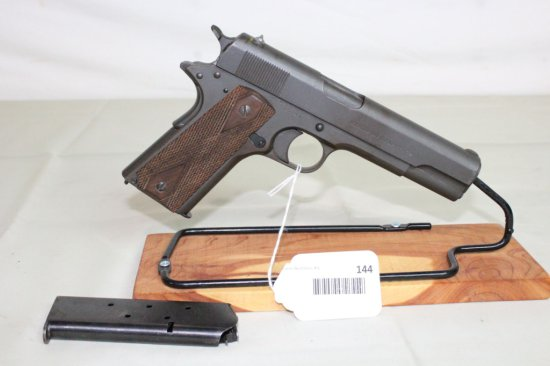Colt Model of 1911 U.S. Army .45 Auto. Pistol. Mfg. 1918.
