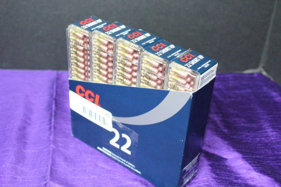 500 Rounds of CCI .22 Short HP Ammo.