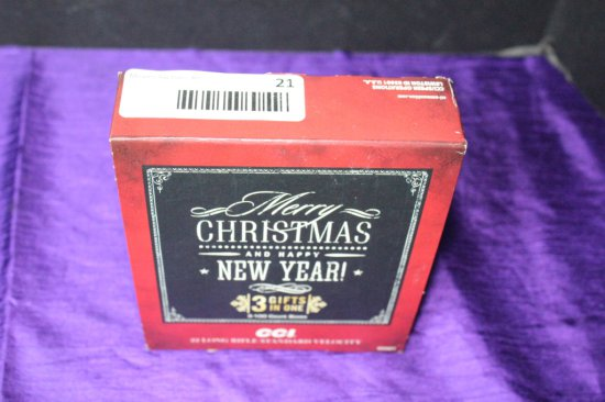 "300 Rounds of .22LR ""Merry Christmas"" Ammo Gift Set."