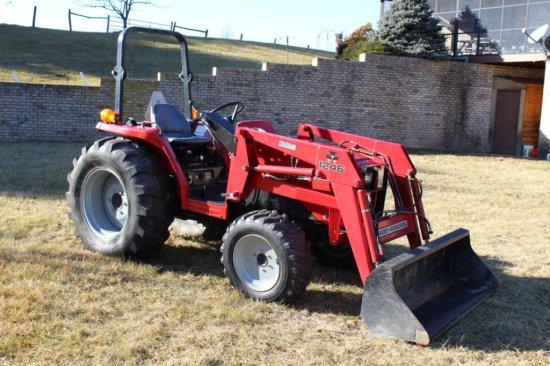 2000 Massey Ferguson 1250 Diesel Tractor w/Front-End Loader.