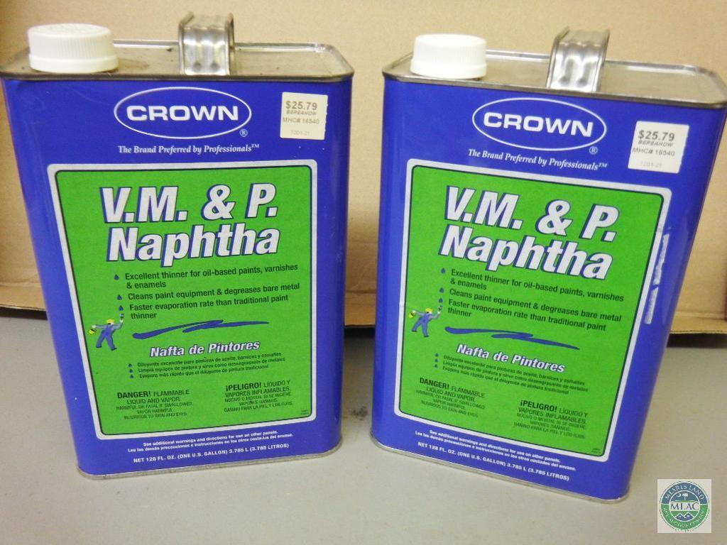 Lot: Lot of 2 VM&P Naphtha Oil Based Paint Thinner 1 Gallon