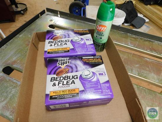 Lot of Mosquito Spray & Bedbug & Flea Foggers