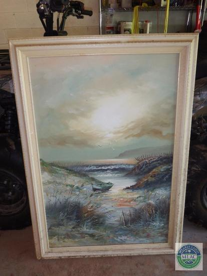 Paint on Canvas Framed Print Signed by King