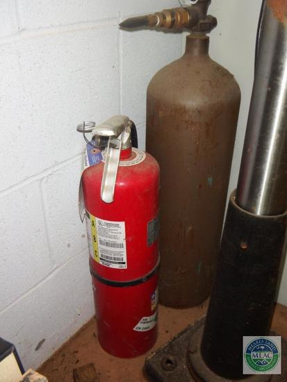 Helium gas tank & Fire Extinguisher