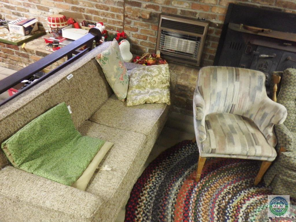 Wondrous Lot Lot Couch Sofa And 3 Chairs 1 Are Rocking Proxibid Squirreltailoven Fun Painted Chair Ideas Images Squirreltailovenorg