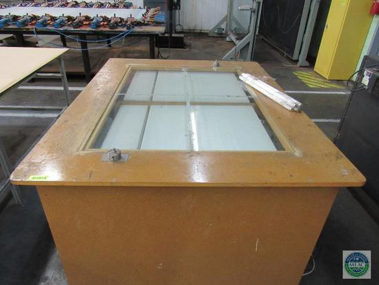 Screen Printing Wood & Glass Registration Table