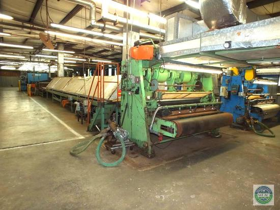 Vinyl Back Coir Yarn Tufting Machine 138' Complete Line.