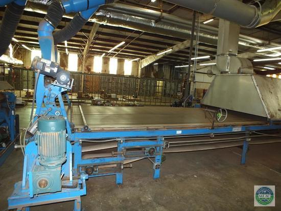 Vinyl Back Coir Yarn Tufting Machine 138' Complete Line