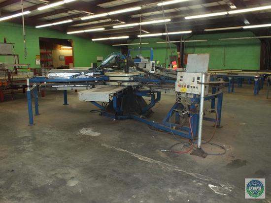 Schenk Industrial 4 Color Multiflock Mat Carousel Printing Flocking Machine