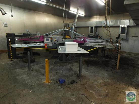 Hebbecker Versaflock Mat 3 Color Printing Flocking Carousel Machine