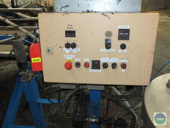 Schenk Industrial 2 Color Multiflock Mat Carousel Printing Flocking Machines
