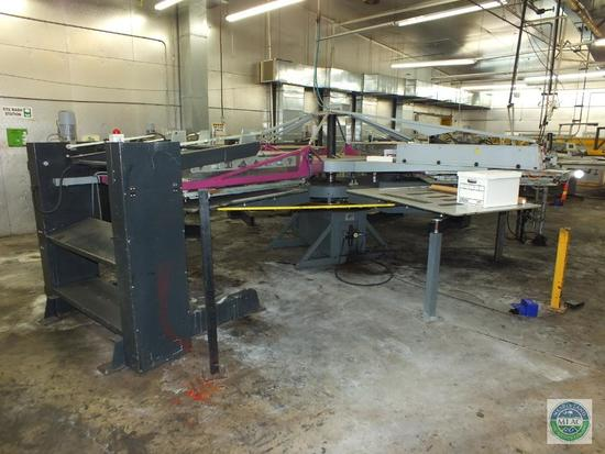 Hebbecker versaflock mat 4 Color Carousel Printing and Flocking Machine
