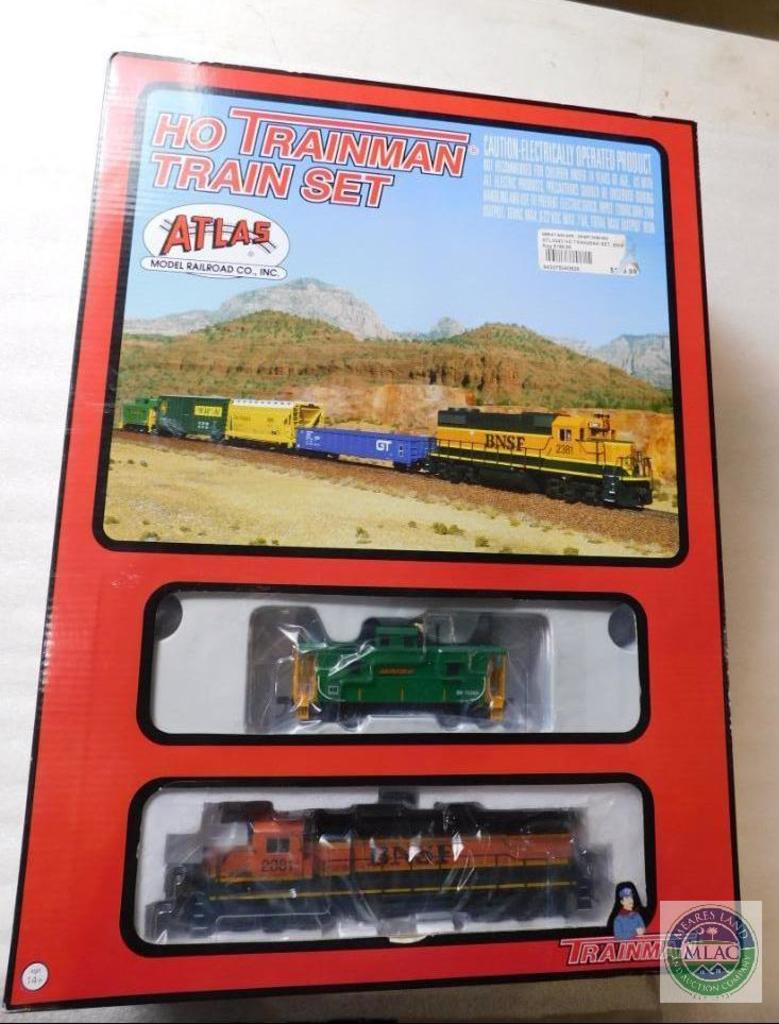 Lot: New Atlas HO Trainman Train Set #BNSF 0043 | Proxibid