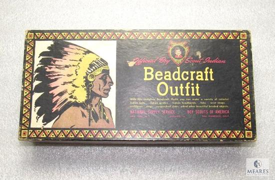 Vintage Official BSA Beadcraft Indian Outfit Kit