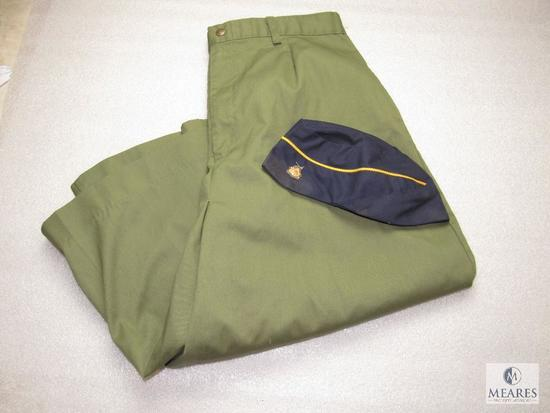 Official BSA Olive Green Vintage Women's Shorts & Den Mother Hat w/ Cub Scout Pin