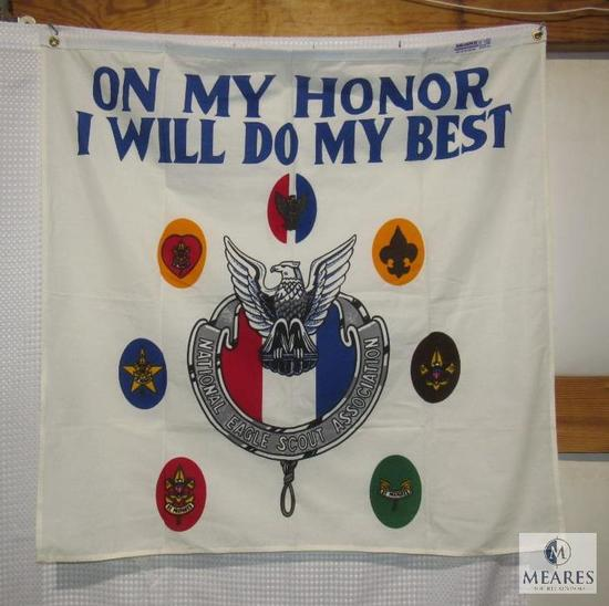 """36"""" x 36"""" """"On My Honor I Will do My Best"""" Eagle Scout Association BSA Flag Banner"""