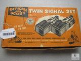 Vintage Official Boy Scout Twin Signal Set Sight & Sound Communication