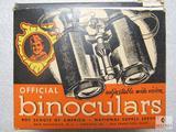 Vintage Official Boy Scouts Binoculars in Original box