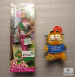 New Girl Scout Barbie Doll & Garfield Plush Doll