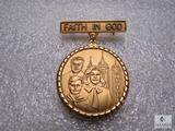 Vintage Boy Scout Relion Pin Medal Church of Jesus Christ of Latter Day Saints Mormon Faith