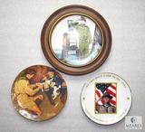 Lot 3 Collectible Scout BSA Norman Rockwell China Plates