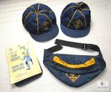 Lot Vintage Cub Scout Iron-On Knee Patches, Fanny Pack and 2 Hats w/ Logo