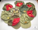 Lot 9 Vintage Boy Scout Caps Ball Hats