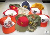 Lot 9 Vintage Boy & Cub Scout Caps Ball Hats