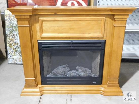 Twin Star Electric Fireplace Heater Wood Framed #33E05