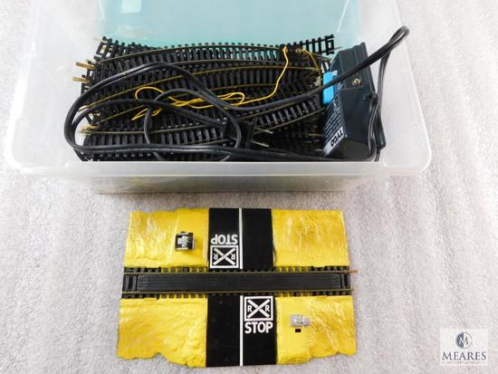 Lot of HO Scale Train Tracks & Tyco Pak Controller