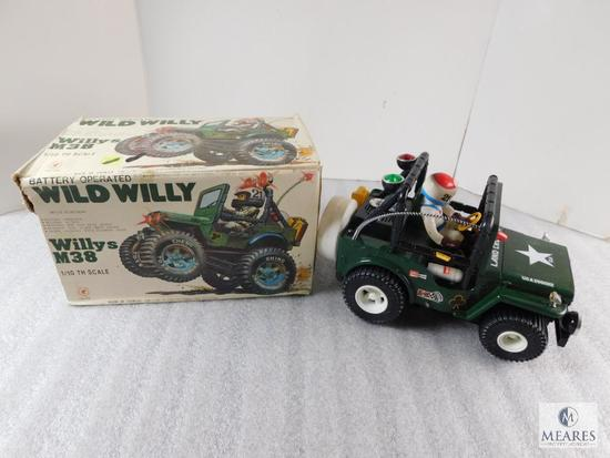 Wild Willy M38 Battery Operated Jeep Toy 1/10 Scale Model