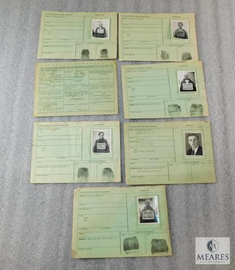 Prisoner/Worker Information Cards - World War II