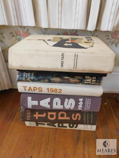 Lot 7 TAPS 1950's - 1980's Clemson Alumni Yearbook Albums