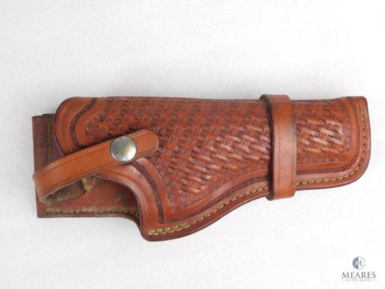 Browning leather tooled holster fits Browning Hi-power 9mm