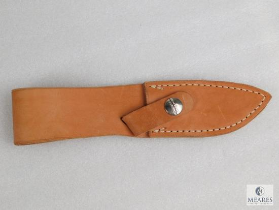 "Leather fixed blade knife sheath for 3"" blade"