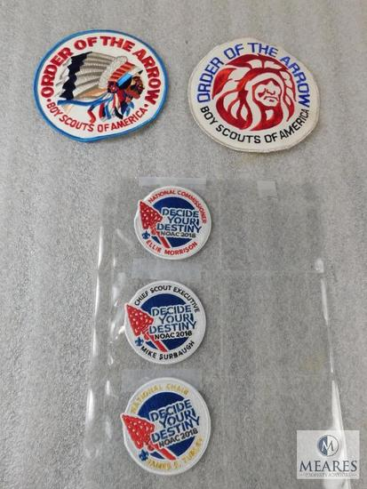 Lot 2018 NOAC Patches, 1960's OA Order of the Arrow Jacket Patch, & 1970's Patch