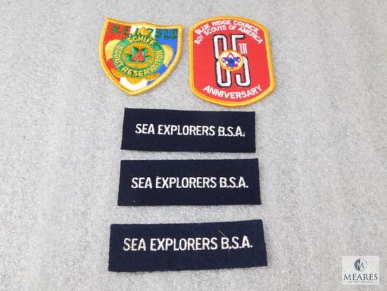 Lot Vintage Boy Scouts Patches Blue Ridge Council Anniversary, Pro Scout Training, & Sea Explorers