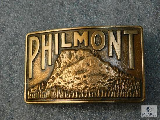Vintage Brass Boy Scout Camp Philmont Belt Buckle