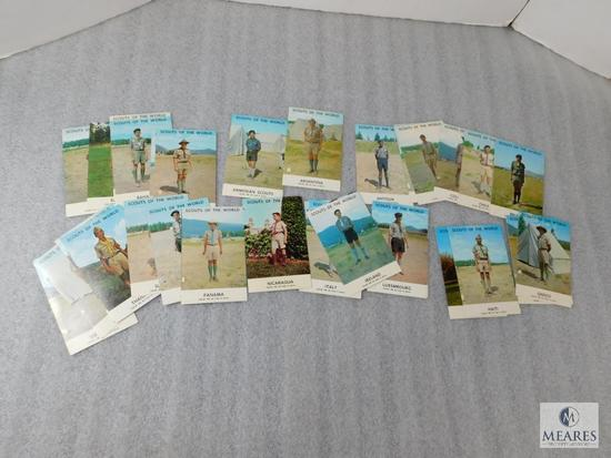 Lot of 66 Vintage Boy Scouts of the World Postcards 1968 Issue