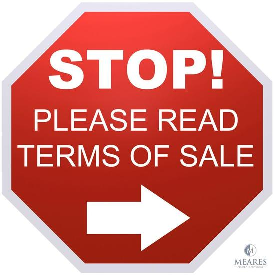 PLEASE READ - TERMS OF SALE