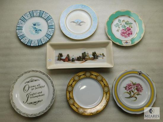 Lot 6 Collector Plates includes White House China & Grassland Road China Tray