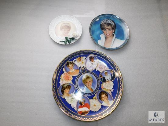 Lot of 3 Princess Diana of Wales Commemorative Plates