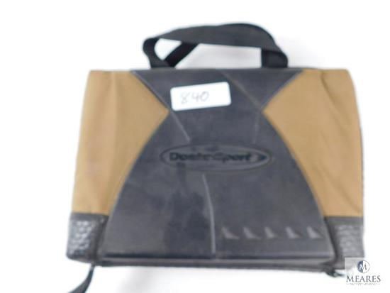 Doskosport tan & black pistol case lockable