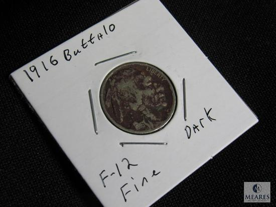 1916 P Buffalo Nickel F-12 Fine Dark