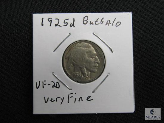 1925 D Buffalo Nickel VF-20 Very Fine