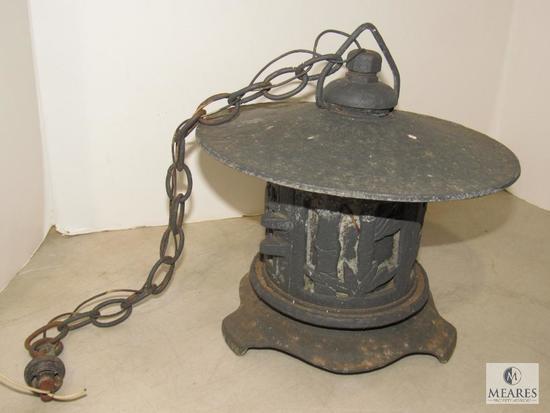 Antique Oriental Metal Hanging Lantern