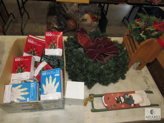Lot Christmas Decorations & Fall Floral Decorations