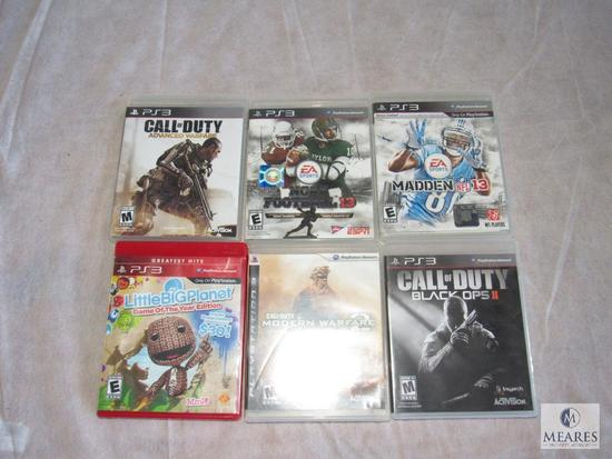 Lot of 6 - PS3 games (refer to photos for Game titles)