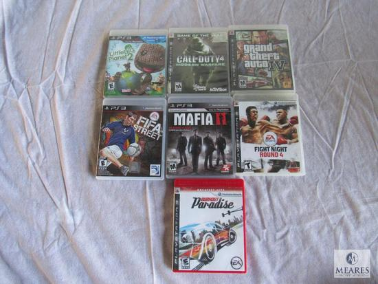 Lot of 7 - PS3 games ( refer to photos for Game titles)